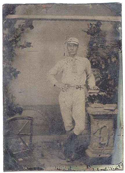 1870-1880s Tintype Two Players