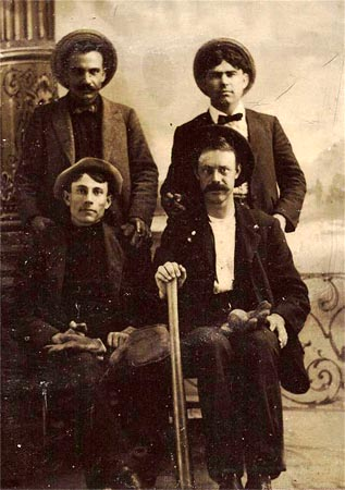 19th Century Tintype 4 Players With Equipment