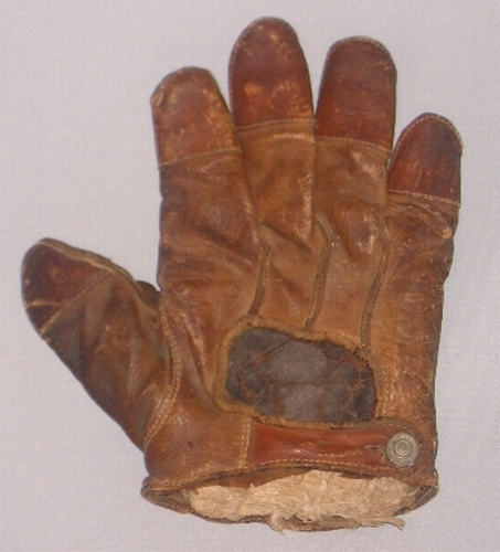 c. 1890's Finger Tipped Finger Catchers Glove Lefty Crescent Back