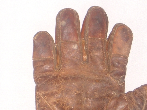 c. 1890's Finger Tipped Finger Catchers Glove Lefty Crescent Front