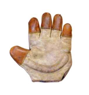 c. 1890's Finger Tipped Finger Catchers Glove Righty Front