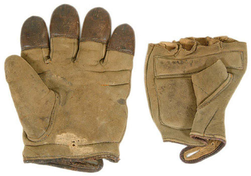 c. 1890's Finger Tipped and Fingerless Pair Front