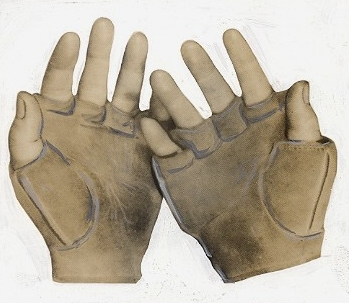 c. 1880's-90's Fingerless Gloves