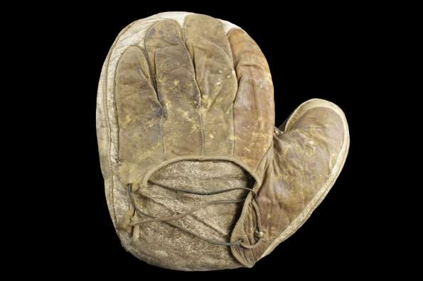 c. 1890's Early Catchers Mitten Back