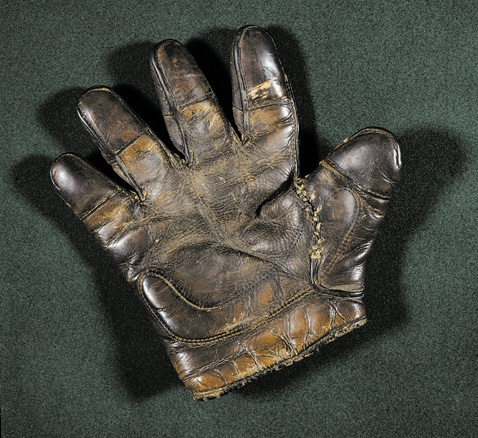 c. 1890's Finger Tipped Finger Catchers Glove Lefty Front
