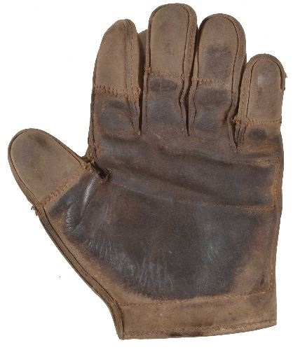 c. 1890's Tipped Finger Catchers Glove Front
