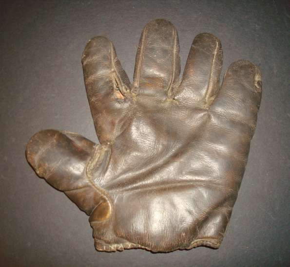 c. 1890's Webless Glove Brown Front