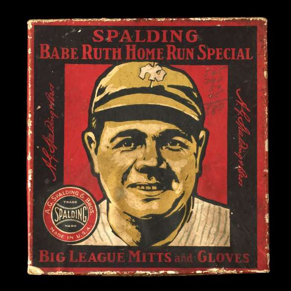 Babe Ruth Spalding MP Home Run Special Fielders Glove Box