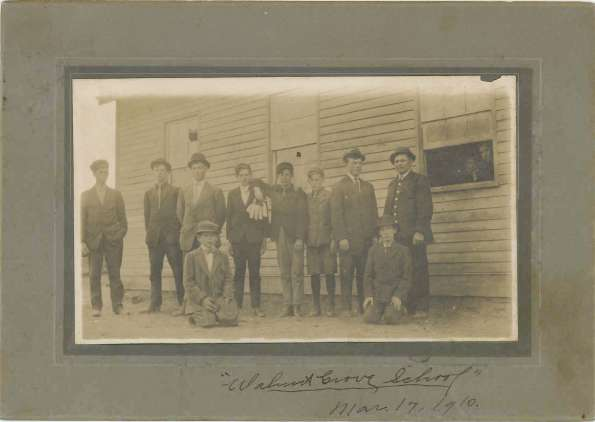Walnut Grove School March 17, 1910