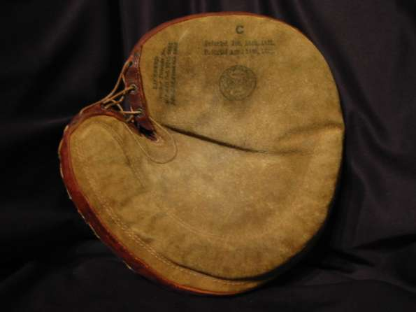Early 1900's Spalding Crescent Catchers Mitt Front