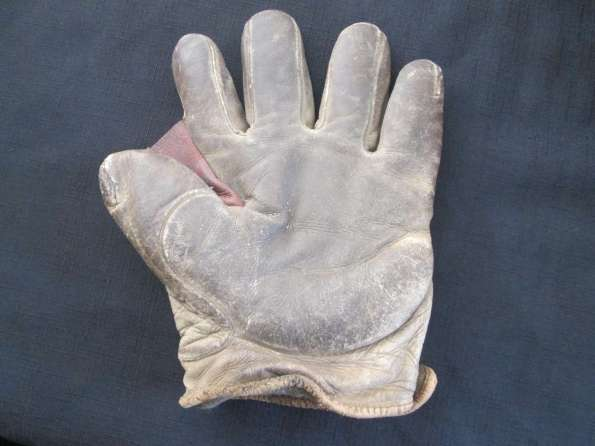 Early 1900's Asbestos Crescent Glove Front