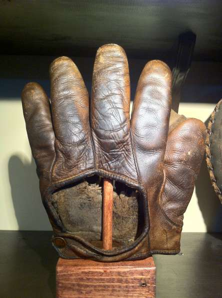 Early 1900's Crescent Glove With Hole in Pocket Back
