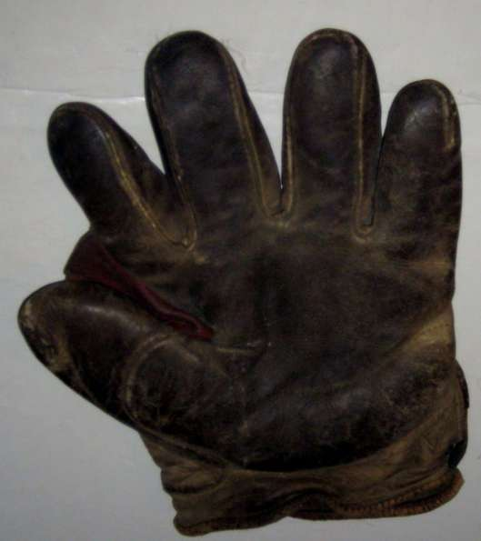 Early 1900's Dark Brown Crescent Glove Front