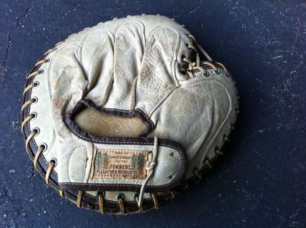Forrest Leather Products Catchers Mitt White Back