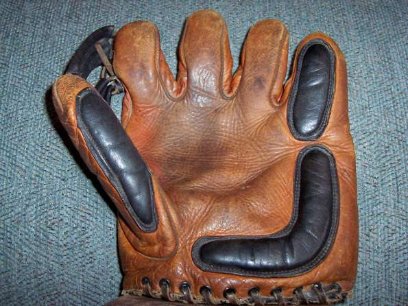 Ken Wel Double Button Softball Glove Front