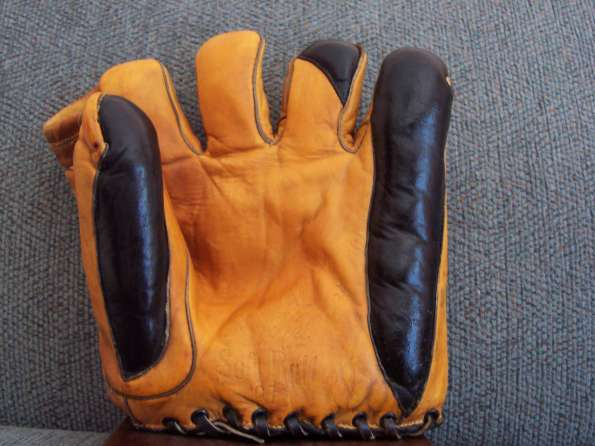 Ken Wel Orange Softball Glove Front