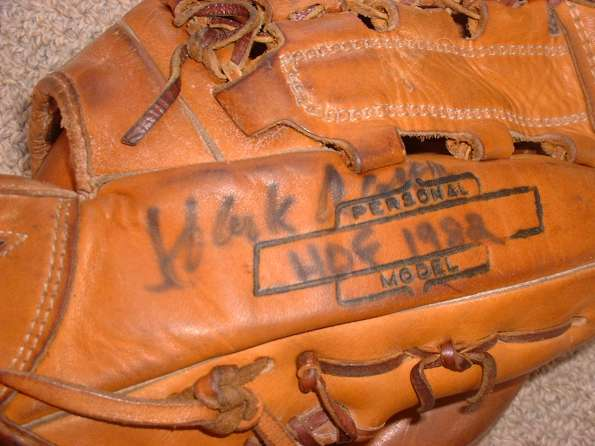 Hank Aaron Brunswick MacGregor KHA Personal Model with Autograph Side