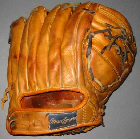 Willie Mays MacGregor G101 Personal Model Back