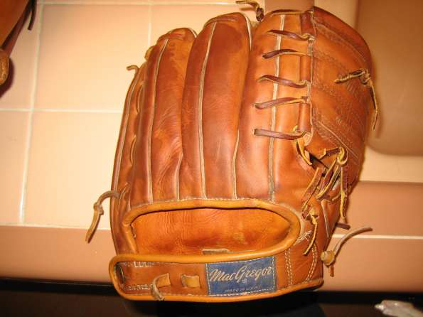 Willie Mays MacGregor G105 Personal Model Back