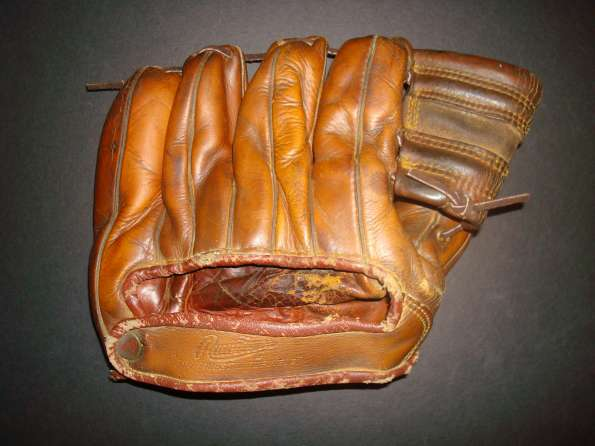 Mickey Mantle Rawlings MM8 Back