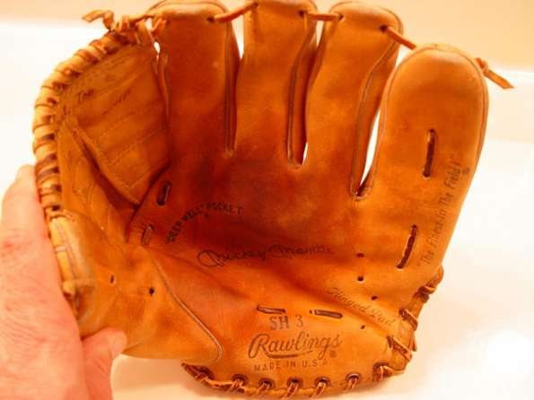 Mickey Mantle Rawlings SH 3 Front