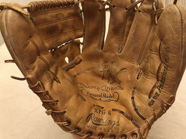 Mickey Mantle Rawlings XPG6 HOH Personal Model Front