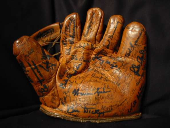 Hall of Fame Glove Front