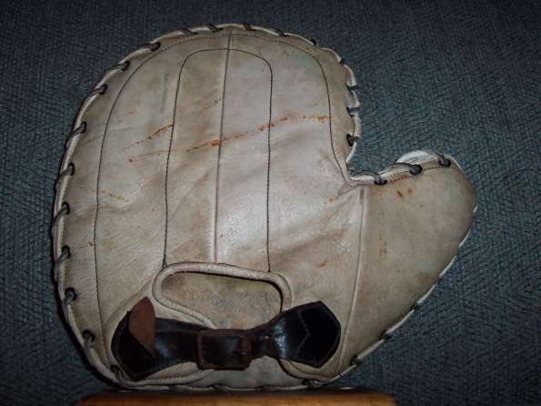 White Black Softball Basemitt Back