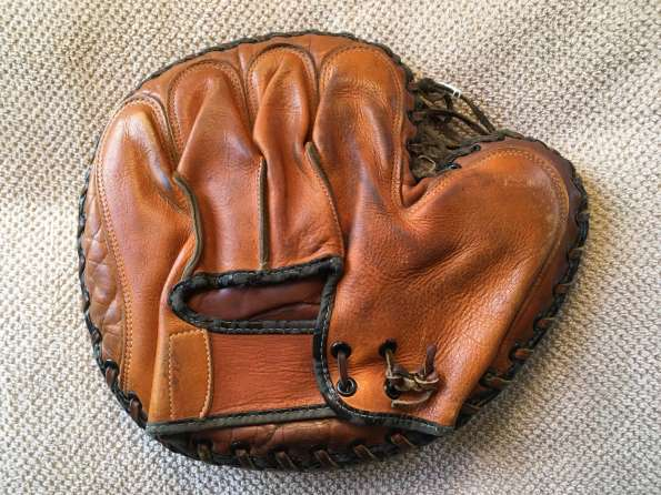 Gilly Campbell Catchers Mitt Back