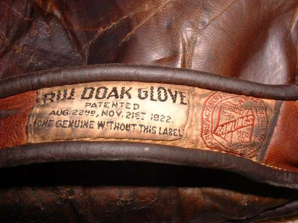 Rawlings Tag with Doak 1920 to 1933