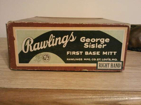 George Sisler Rawlings Basemitt Lefty Box