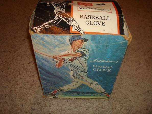 Ted Williams Sears 1676 Picture Box & Glove