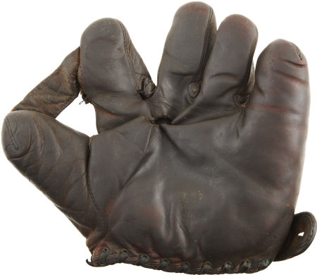 Bill Wambsganss Game-Used Glove Front