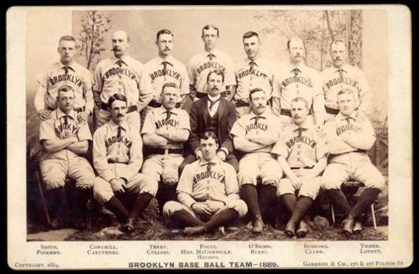 1889 Cabinet Brooklyn Base Ball Team